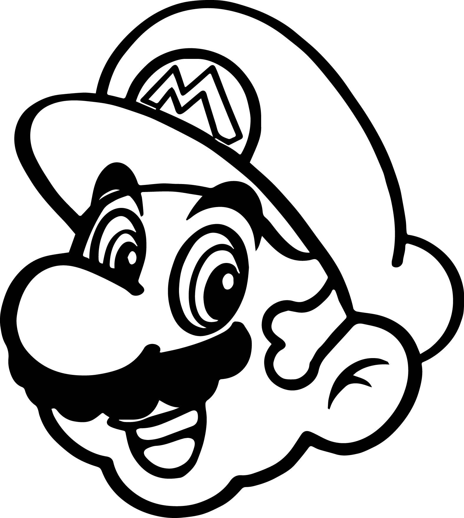 1576x1759 Super Mario Coloring Pages