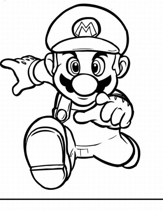 571x738 Super Mario Coloring Pages Photograph