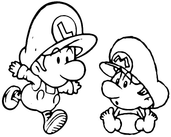 600x480 Mario Colouring Pages