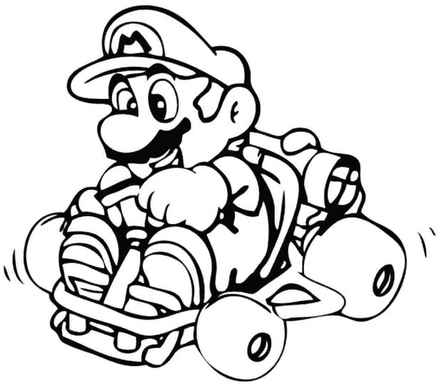 Mario Kart 8 Coloring Pages | Free download on ClipArtMag