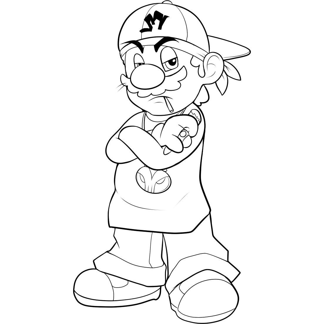 1103x1103 free printable mario coloring pages for kids