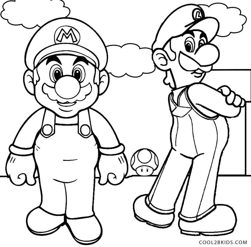 850x835 Mario And Luigi Coloring Pages