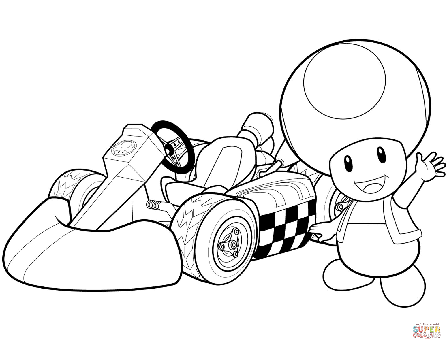 1550x1197 Mario Kart Coloring Pages Toad Wii Page Printable For Kids Photo
