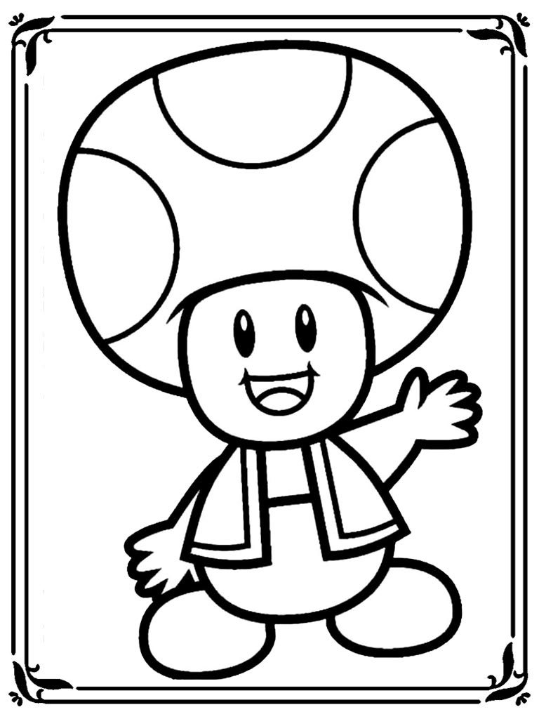 Mario Kart 8 Coloring Pages Free Download On Clipartmag