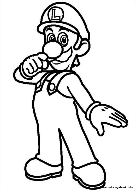 567x794 Super Mario Bros Coloring Pages On Book