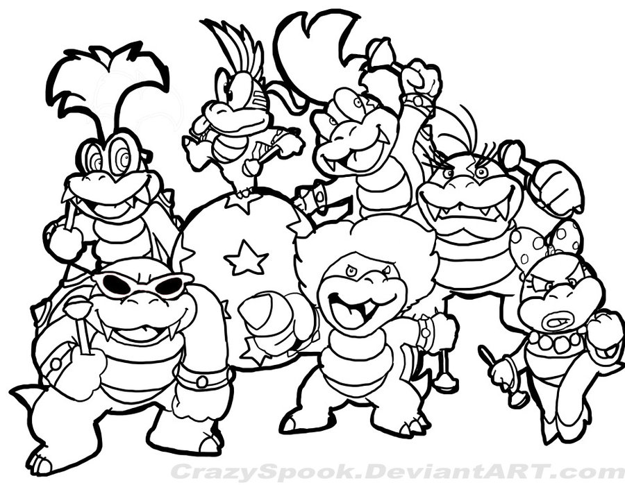 900x699 Super Mario Coloring Pages