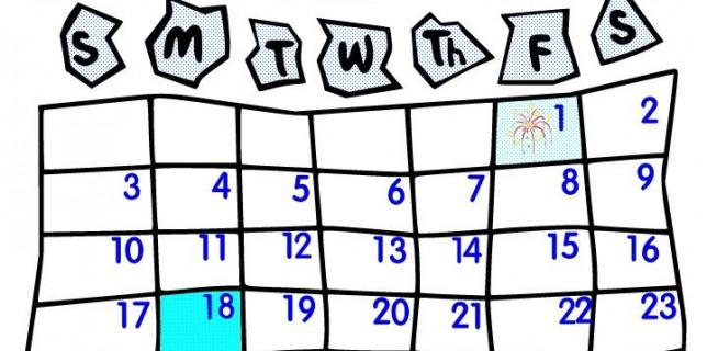644x320 Clipart Calendars