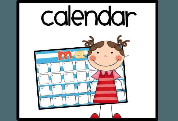 605x414 Free Calendar Clip Art