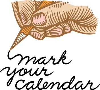 352x315 Mark Your Calendar Clipart
