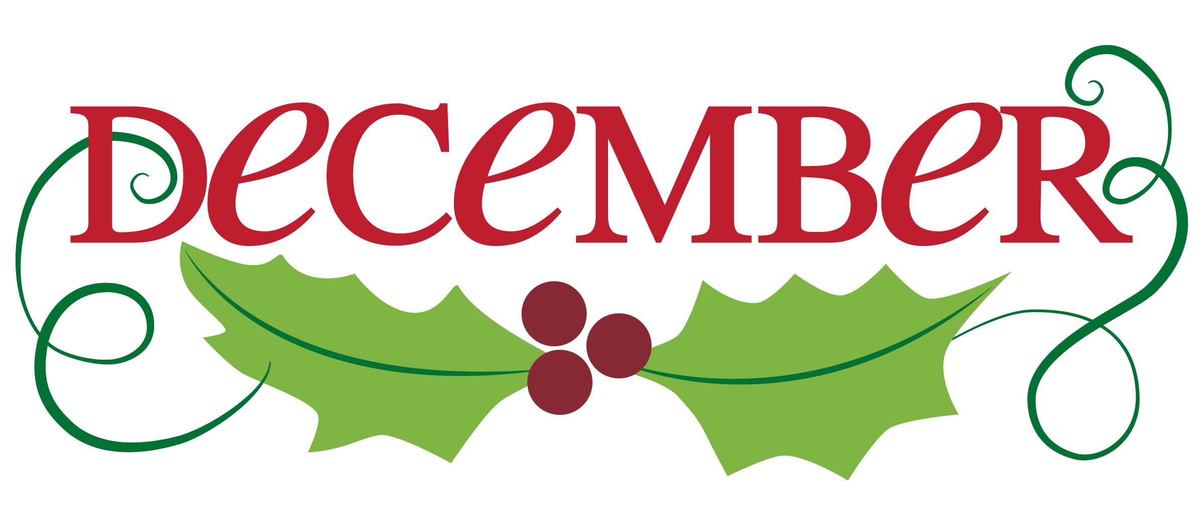 2400x1050 Free December Calendar Clipart