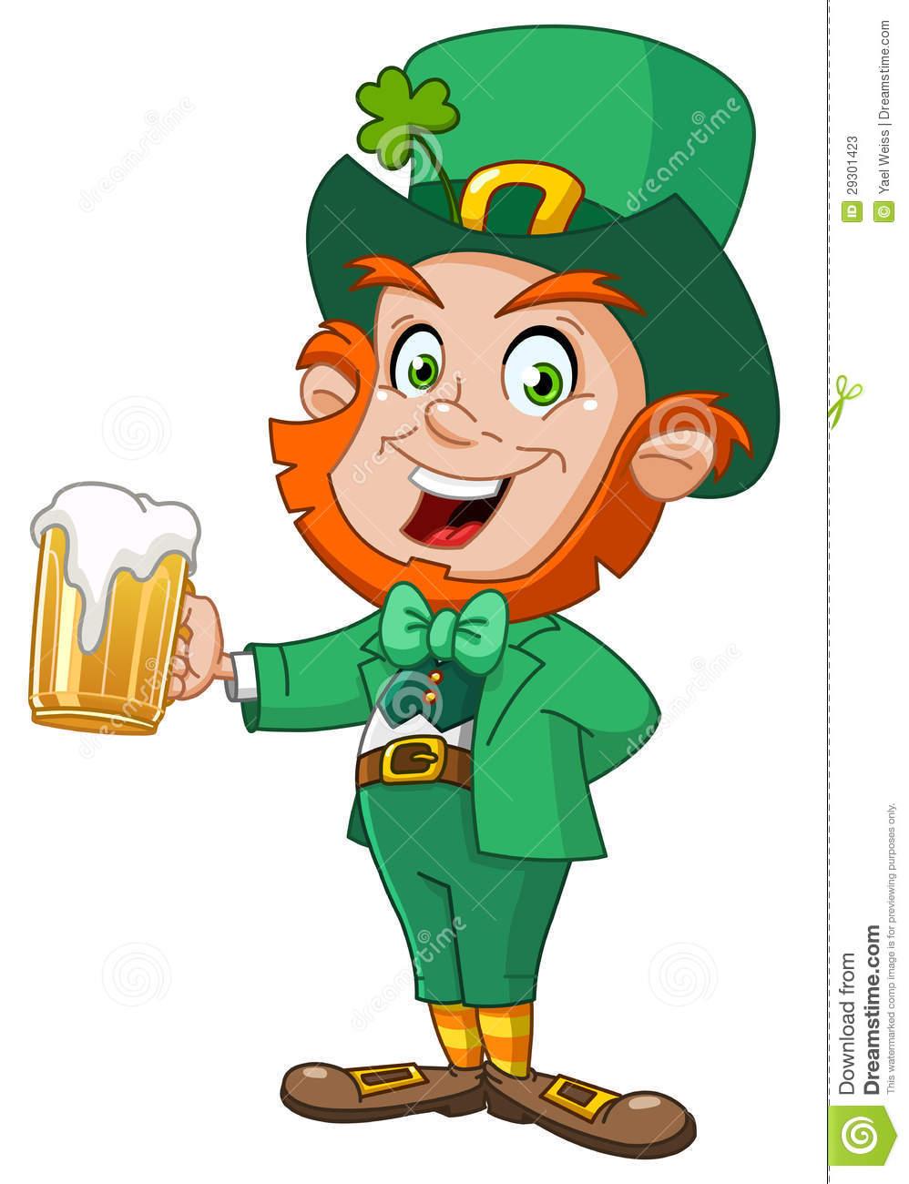 998x1300 Leprechaun With Beer Stock Photos