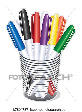 347x470 Clip Art Of Small Tip Marker Pens K7804737