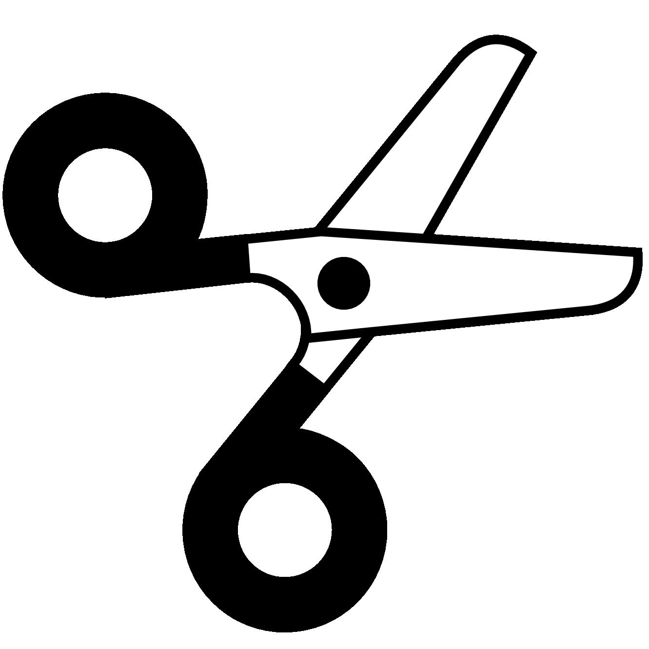 1331x1331 Scissors Clipart Black And White Clipart Panda