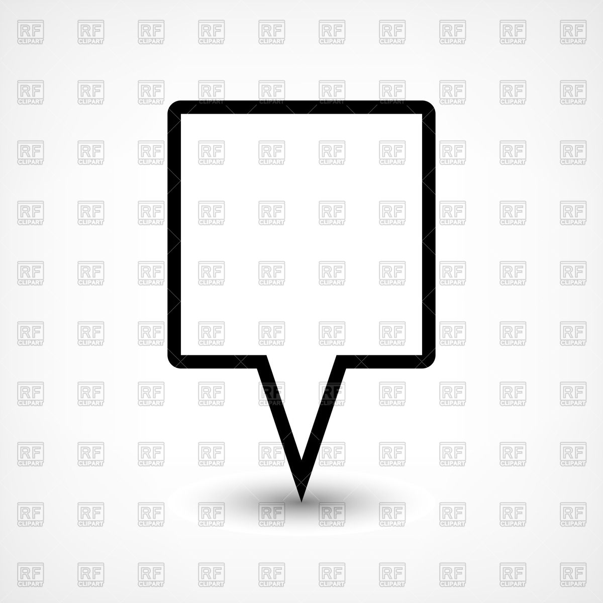1200x1200 Blank Square Map Marker Royalty Free Vector Clip Art Image