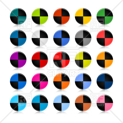 400x400 Markers For Crash Test Dummies Royalty Free Vector Clip Art Image