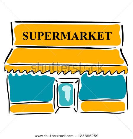 450x470 Supermarket Clipart
