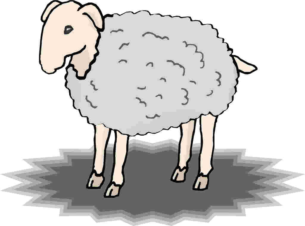 1024x760 Lamb Clipart Black And White Image