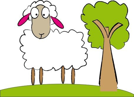 455x332 Merino Sheep Clip Art, Vector Merino Sheep