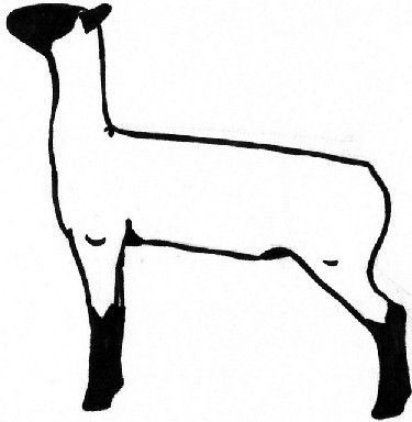 375x384 Show Lamb Silhouette Silhouette Printables Lambs
