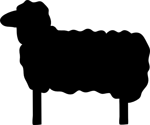 600x498 Silhouette Clipart Sheep