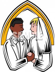 228x300 Multi Racial Marriage Clipart Image