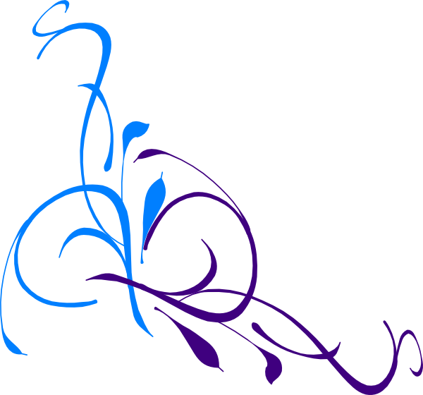 600x560 Wedding Floral Swirl Clip Art