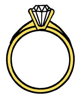 268x318 Two Wedding Rings Clipart
