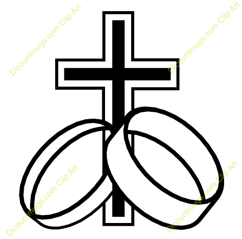 500x493 Clipart Cross Ring Wedding