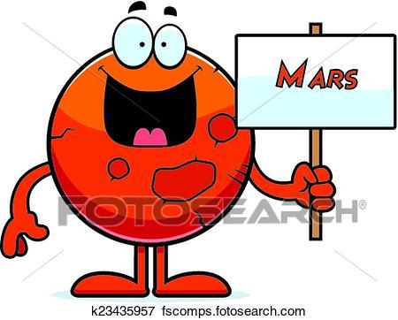 450x362 Clip Art Of Cartoon Mars Sign K23435957