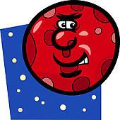 170x169 Clip Art Of Funny Mars Planet Cartoon Illustration K14609456
