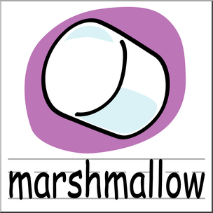 304x304 Clip Art Basic Words Marshmallow Color Labeled I