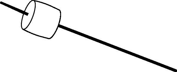 600x243 Marshmallow On A Stick Clip Art Free Vector 4vector