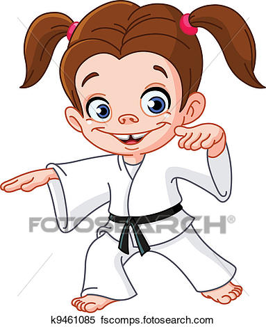 383x470 Clipart Of Karate Girl K9461085