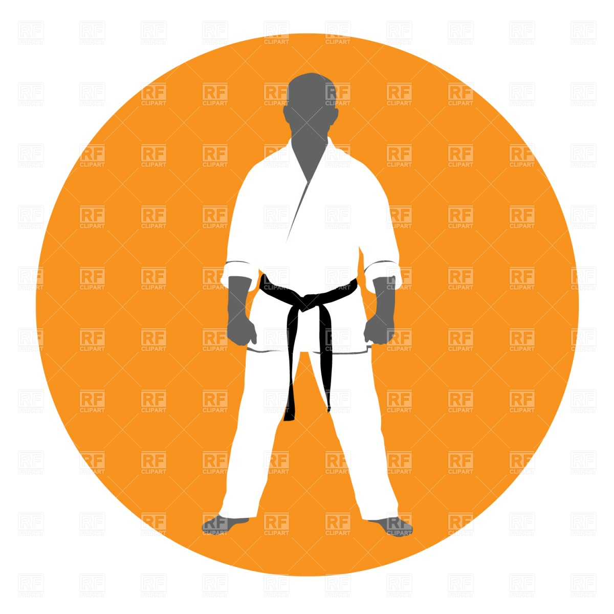 1200x1200 Master Of Martial Art In Kimono Royalty Free Vector Clip Art Image