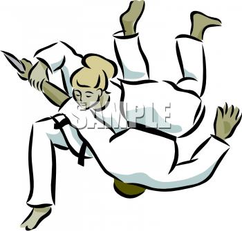 350x335 Royalty Free Karate Clip Art, Sport Clipart