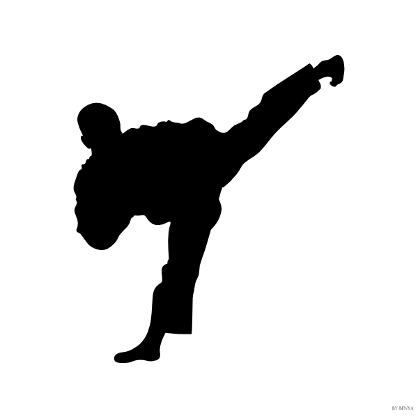 600x600 Tae Kwon Do Silhouette Clip Art
