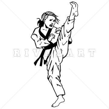 361x361 Taekwondo Kick Clip Art