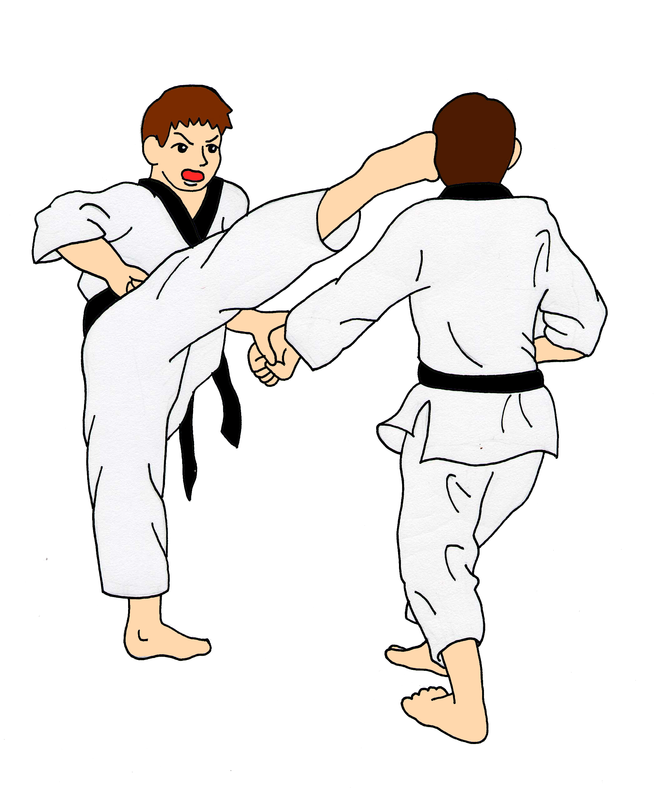 2106x2526 Training Battle Martial Arts Clipart