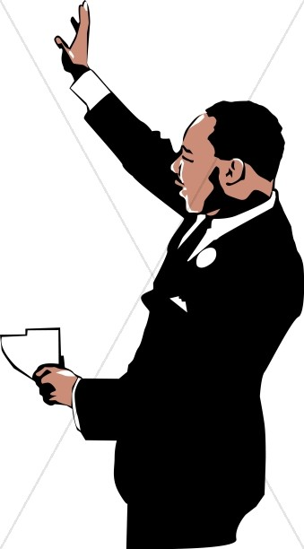 339x612 Mlk Jr. Waving To The Crowd Martin Luther King Clipart