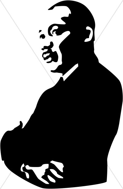 399x612 Martin Luther King Jr. Arms Folded Martin Luther King Clipart