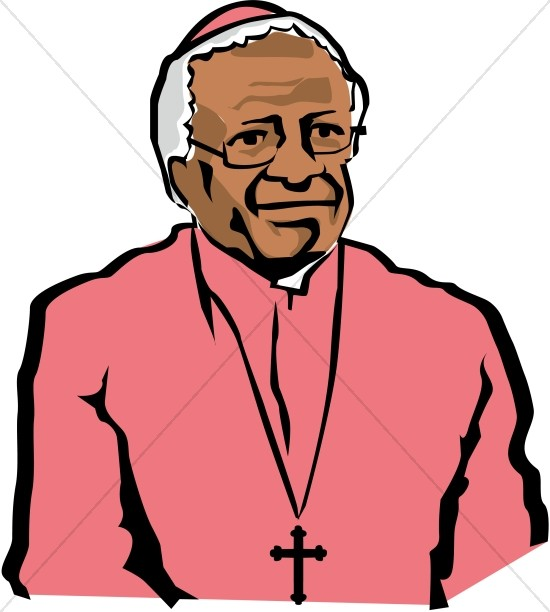 550x612 Archbishop Desmond Tutu Famous People Clipart