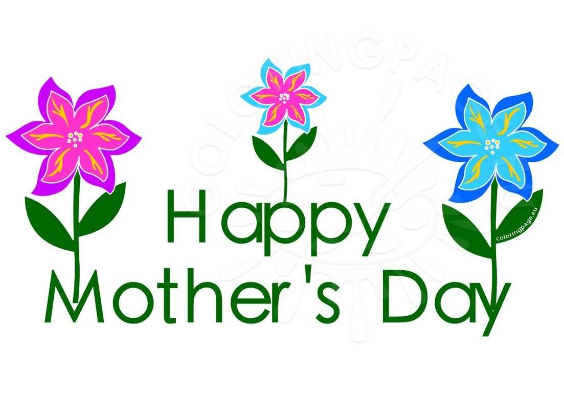 1103x807 Happy Mother's Day Flowers Clipart