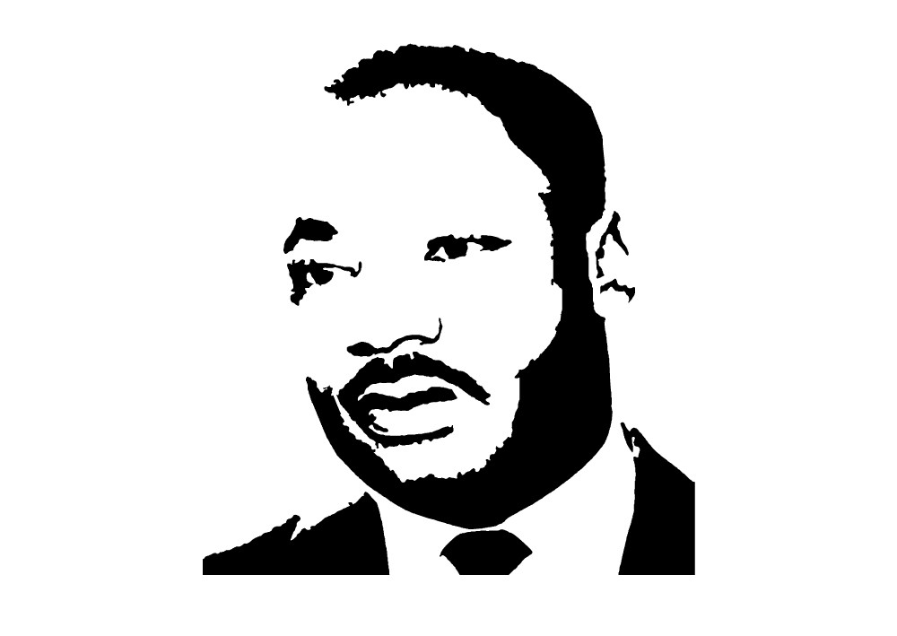 1000x709 Martin Luther King Clipart Black And White
