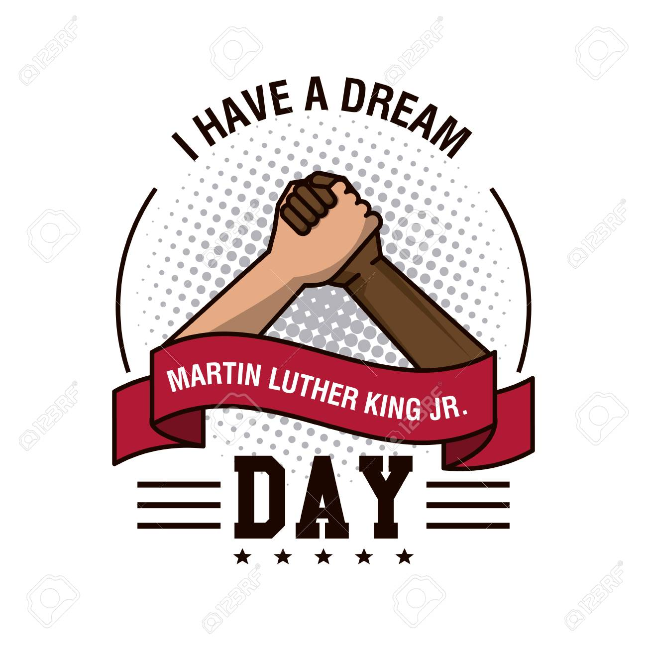 1300x1300 Martin Luther King Jr Day Icon Vector Illustration Graphic Royalty