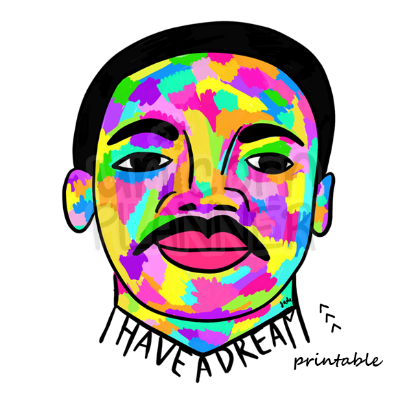 593x593 Martin Luther King Jr. (Digital Download) Unicorn Planner