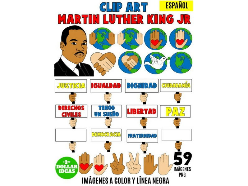 798x600 Martin Luther King Jr Clipart Spanish Martin Luther King