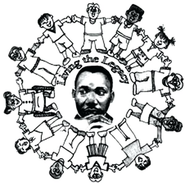 600x592 Martin Luther King Jr Coloring Pages Free And Worksheets