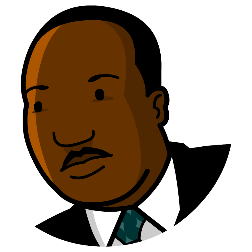 880x880 Clipart Of Martin Luther King Jr