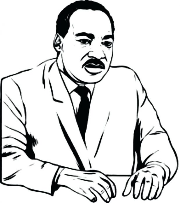 618x694 Coloring Pages Interesting Mlk Coloring Sheet. Mlk Day Coloring