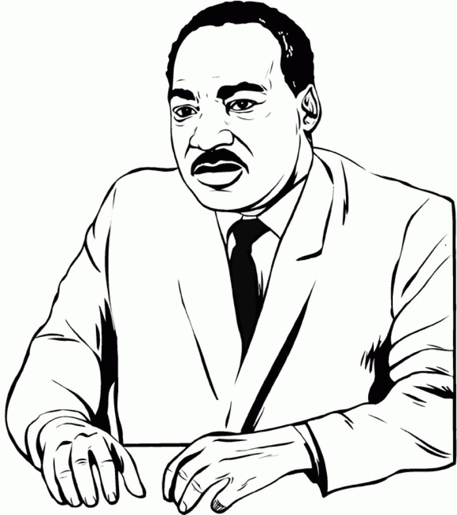 910x1024 Free Printable Martin Luther King Jr Day Coloring Pages (Mlk Day